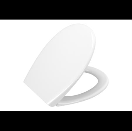 תמונה של ארכיטקט מושב אסלה לבן סגירה שקטה ציר מתכת