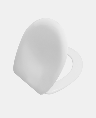 תמונה של אופל מושב אסלה אוניברסלי ציר מתכת לבן