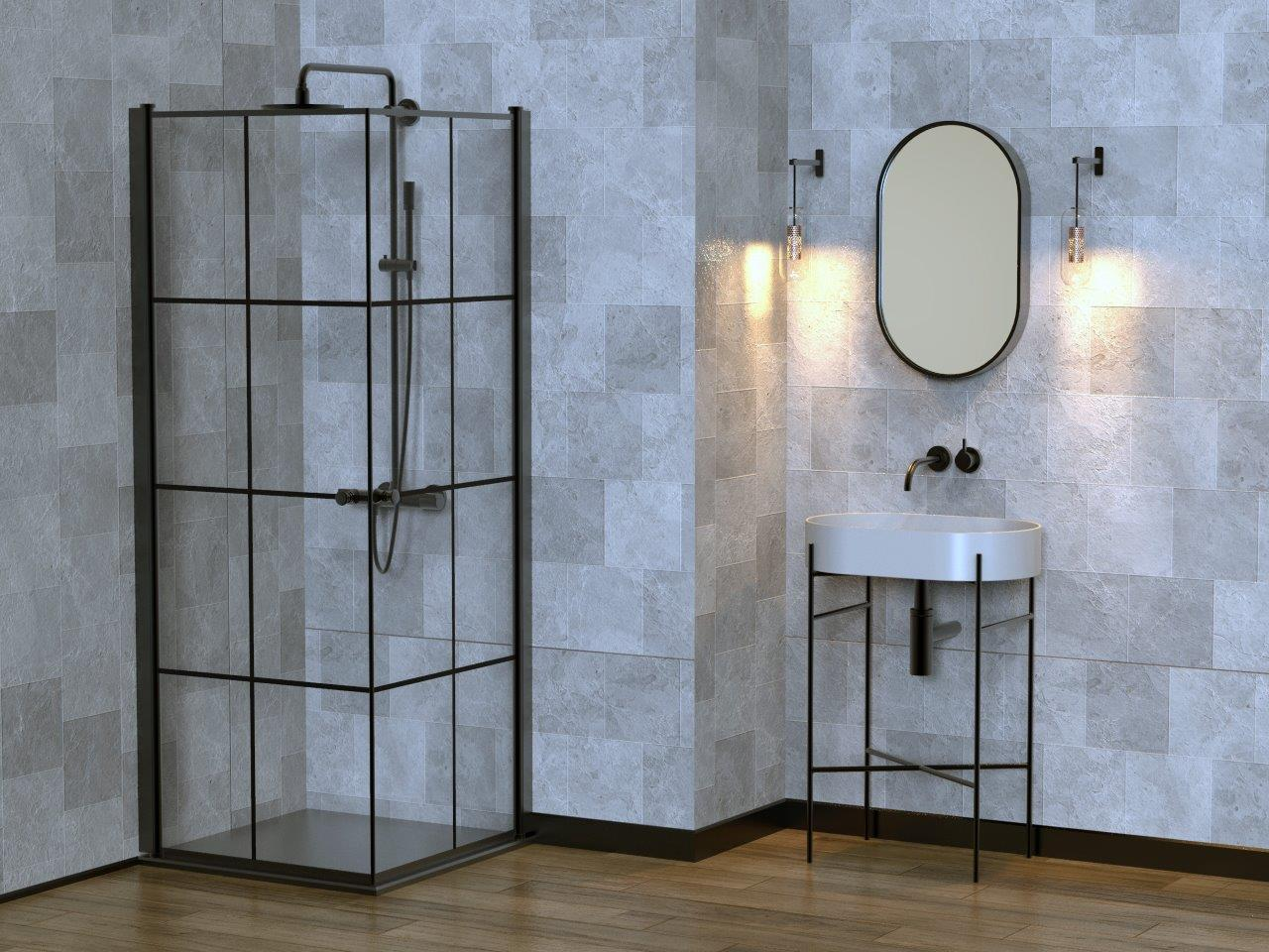 מקלחונים שחורים - BLACK&GLASS